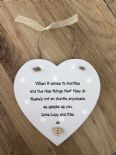 Shabby personalised Gift Chic Aunty auntie Great aunt hanging heart any Name - 332522169373